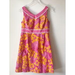 Lilly Pulitzer Floral Elephant Print Dress Size 6